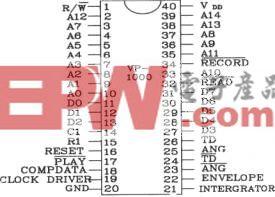 语音合成芯片VP-1000应用电路图
