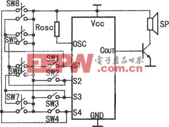 HY8000A八段语音电路原理图