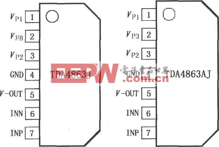 垂直偏转放大器TDA4863J/4863AJ
