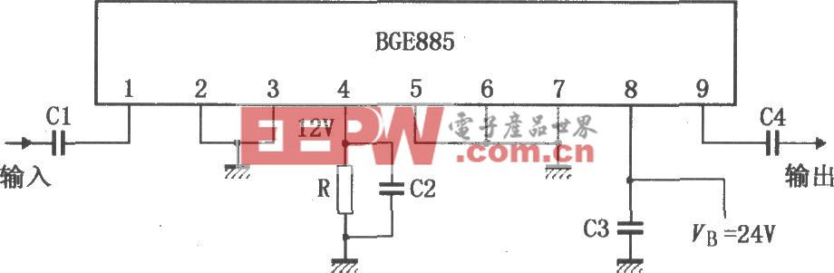 860MHz增益上拉放大器BGE885