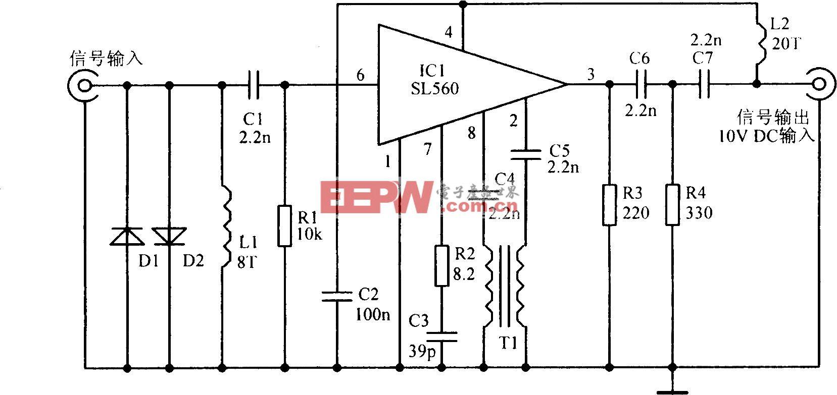 VHF天线放大电路