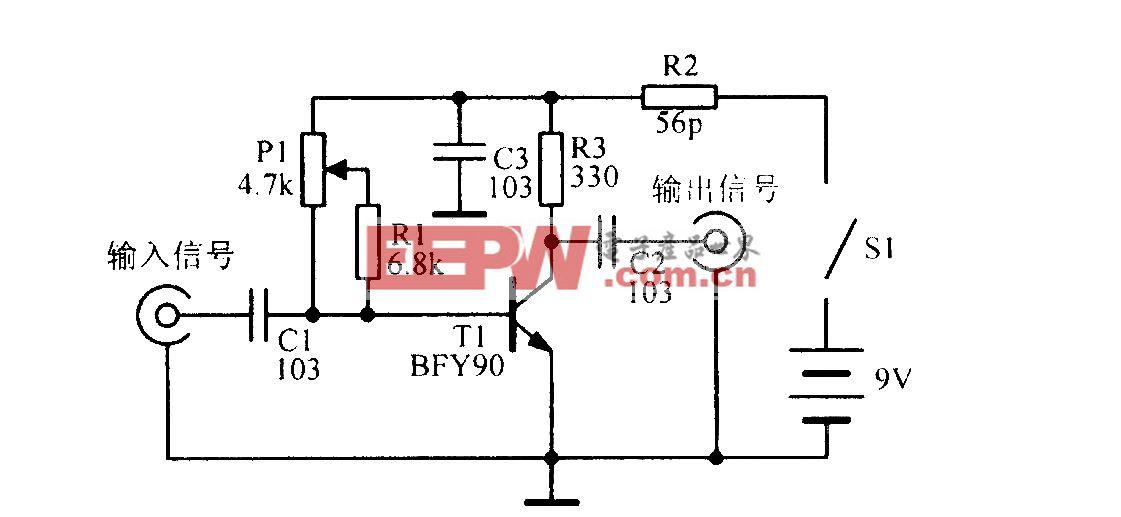 宽带VHF信号放大电路