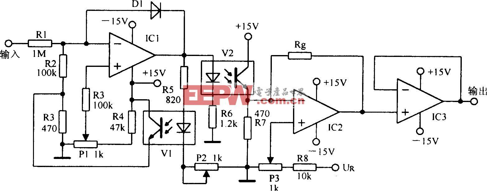 光电耦合器组成的模拟信号隔离电路
