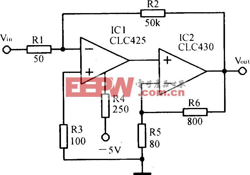 高增益宽带组合放大电路