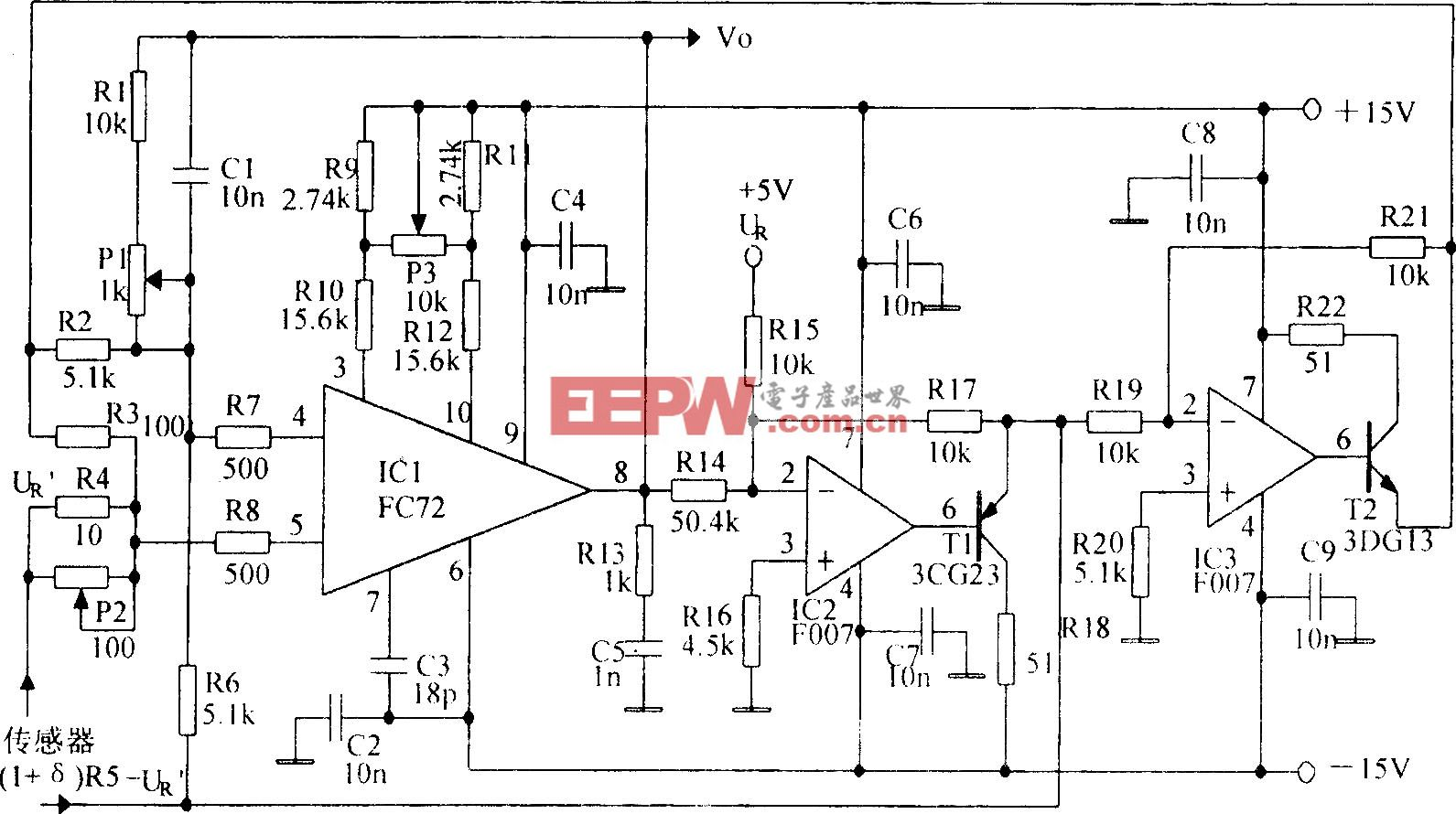 高精度线性放大电路