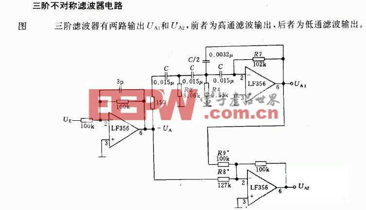 频率为1KHZ的四级电信滤波器电路