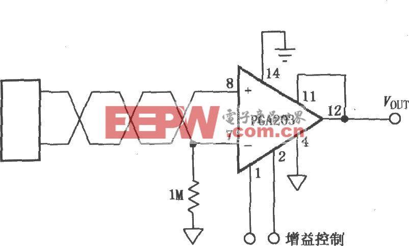 信号源悬浮的可编程仪表放大器(PGA203)
