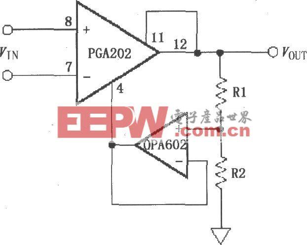 具有缓冲衰减的增益提升电路(PGA202)