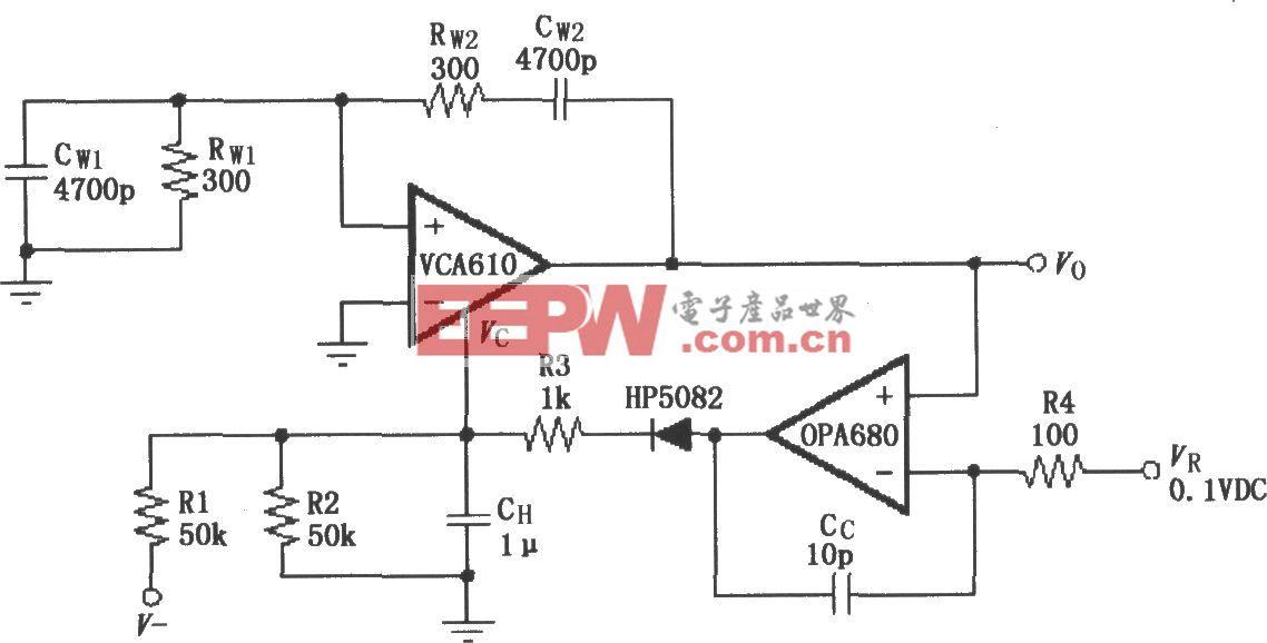 稳幅振荡电路(VCA610/OPA680)