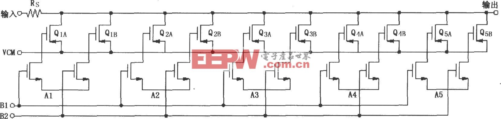 VCA2612/2613/2616可编程衰减器部分电路