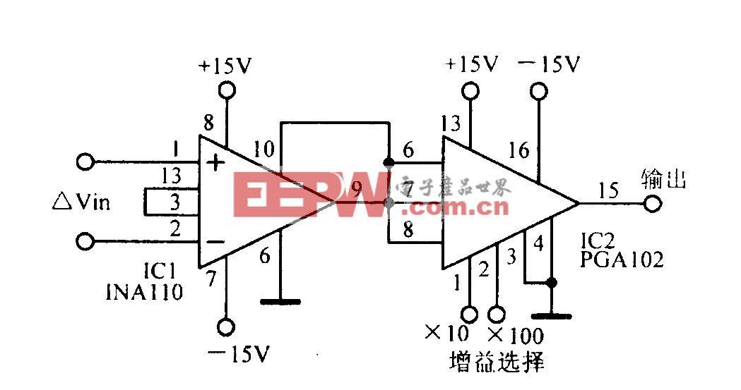 数控高速增益可编程放大电路