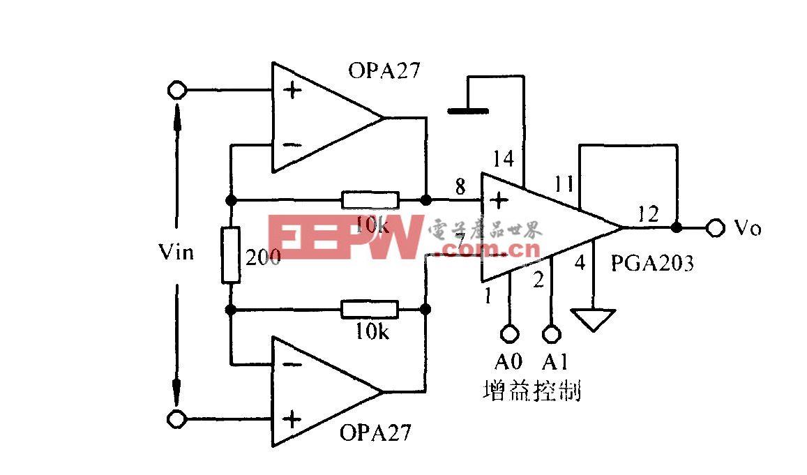增益可编程低噪声放大电路