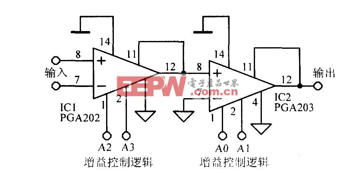 串级增益可编程放大电路