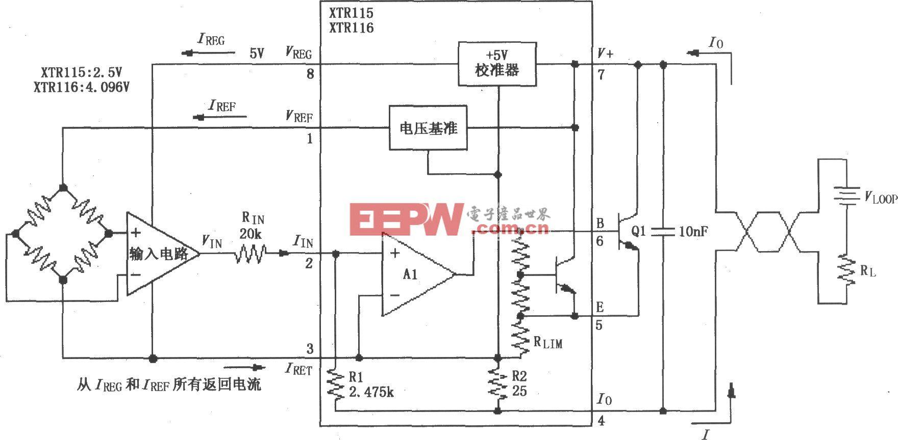 XTR115/116基本连接电路