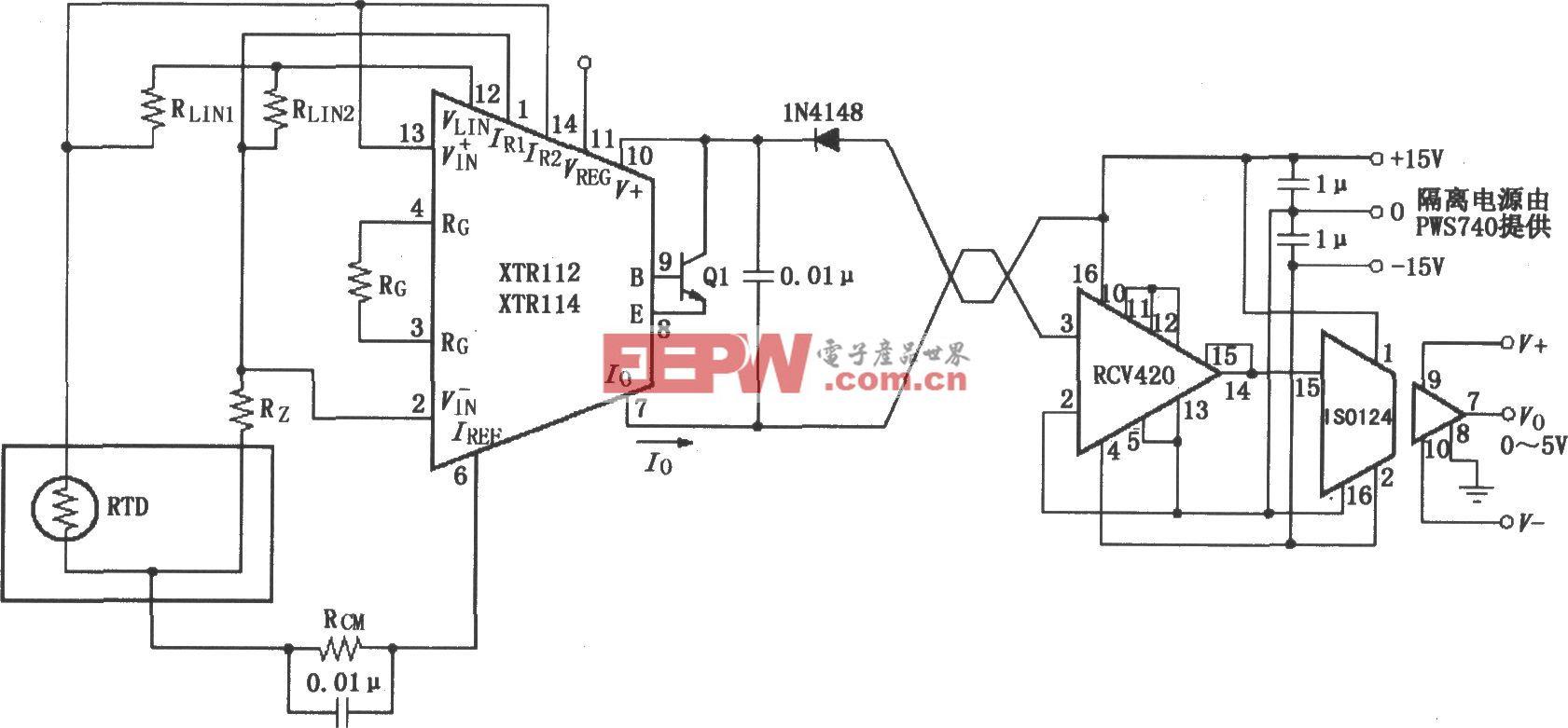 XTR112/114隔离式发送/接收环电路