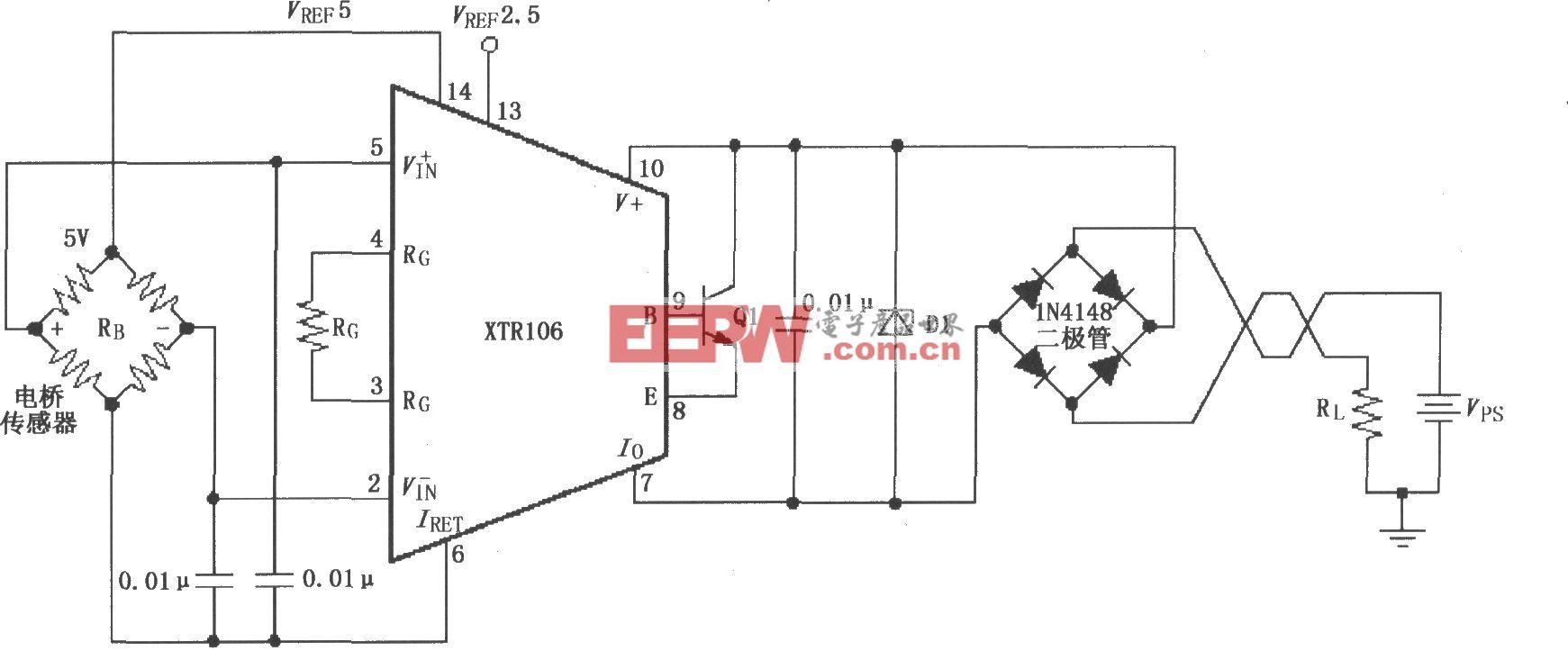 反向电压和浪涌过电压保护电路(XTR106)