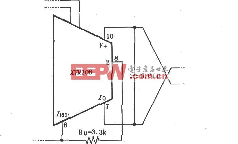 XTR106无外部晶体三极管工作方式的电路