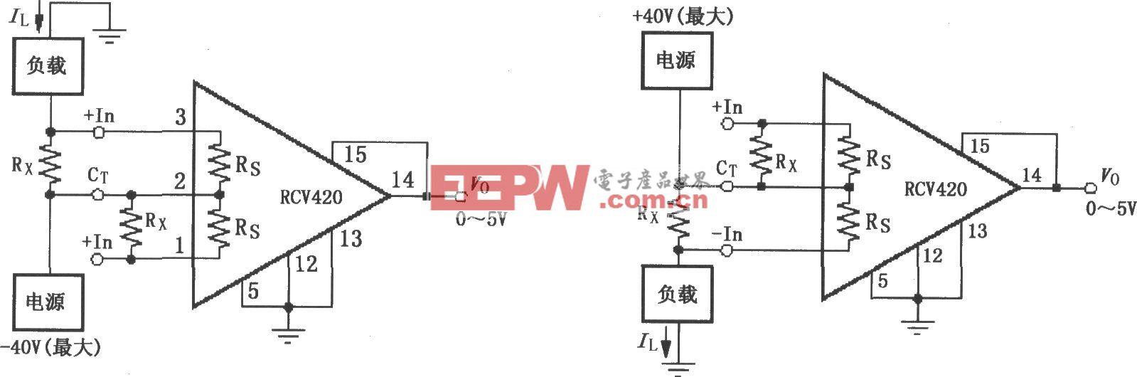 RCV420电源电流监视电路