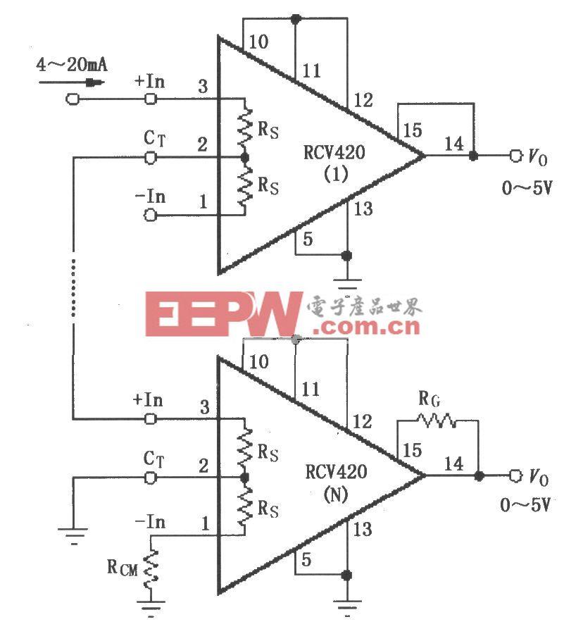 RCV420串联4~20mA接收器