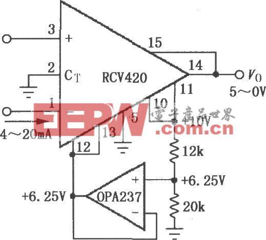 RCV420与TXR105构成完整的4~20mA环路