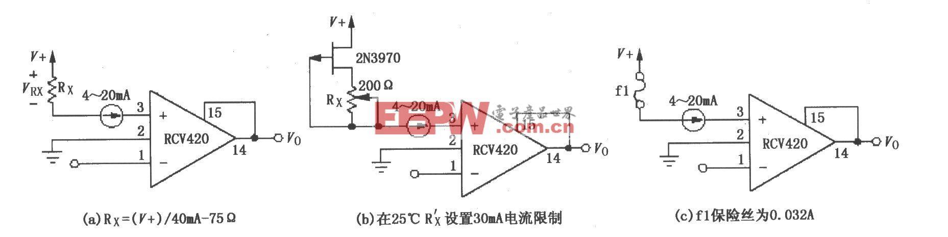 RCV420保護檢測電阻電路