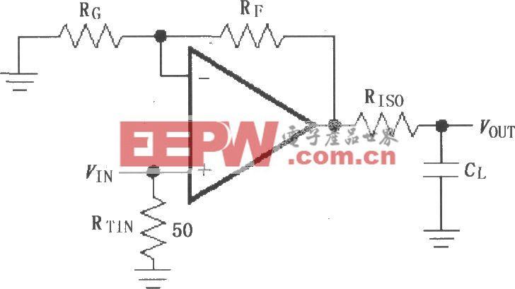 由MAX4450/4451構成的驅動電容性負載電路