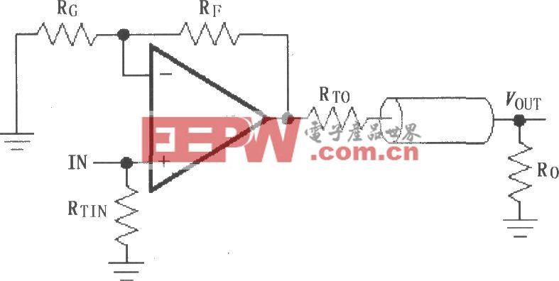 由MAX4450/4451構成的典型同相放大電路