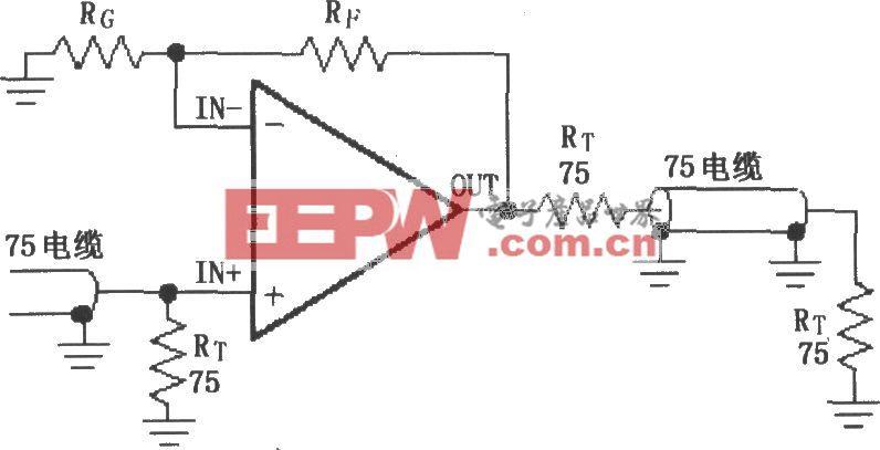 由MAX4223~MAX4228构成的视频线驱动放大器电路