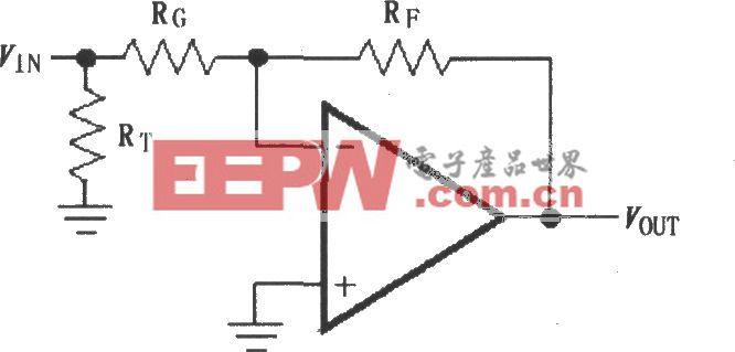 由MAX4102/4103构成的反相增益电路