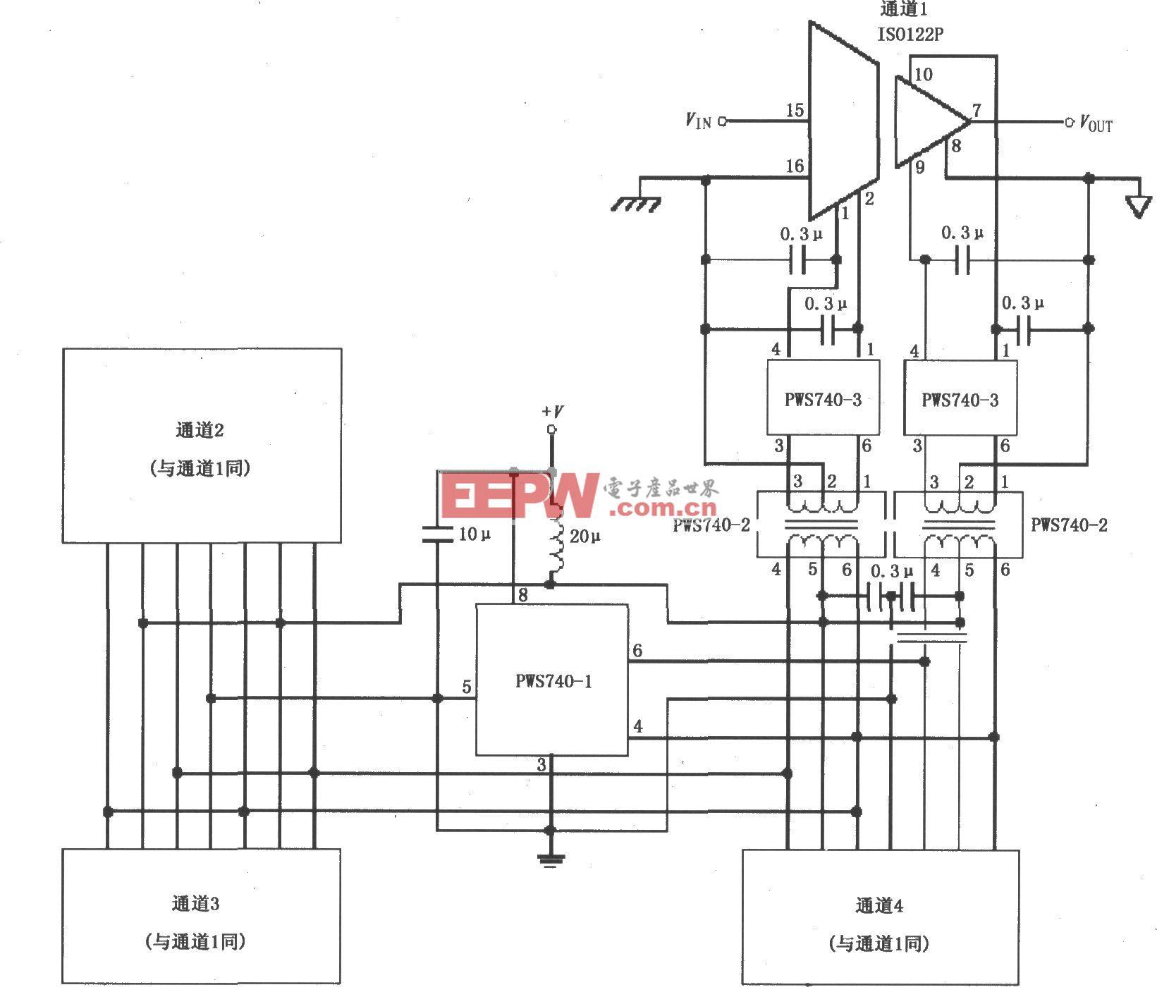 ISO122的低成本三端口、四通道隔离式数据采集系统电路