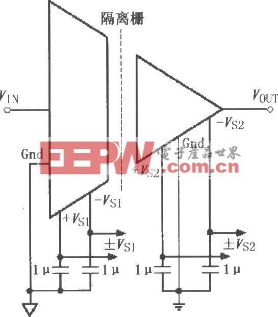 ISO122/124电源和信号的基本连接电路