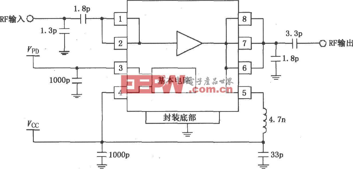 由RF2126构成的2450MHz末级大功率线性放大器电路