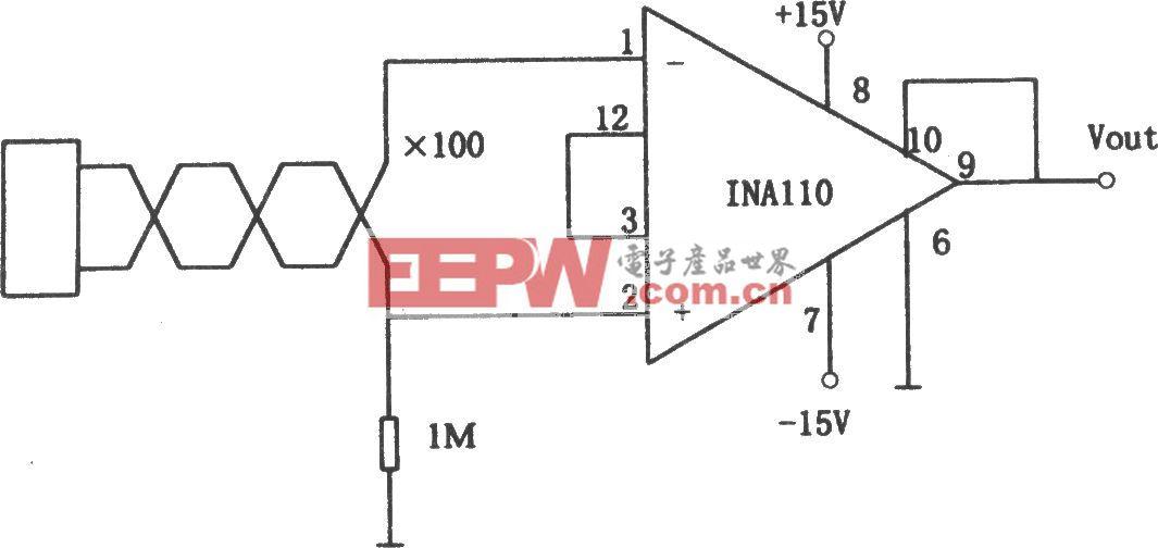 INA110构成的信号源浮动的仪用放大器