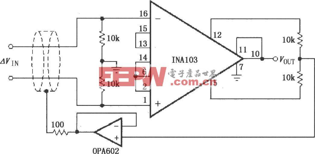 输出级增益调整电路(INA103)