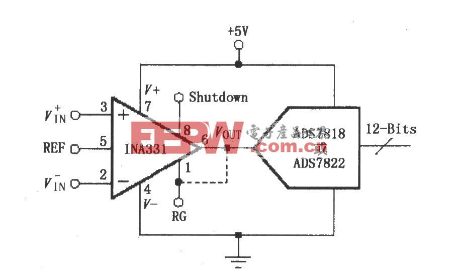 由INA331/332构成的直接驱动电容性输入的A/D变换器