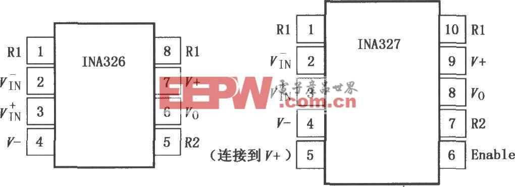 INA326/327精密Rail-Rail I/O仪表放大器