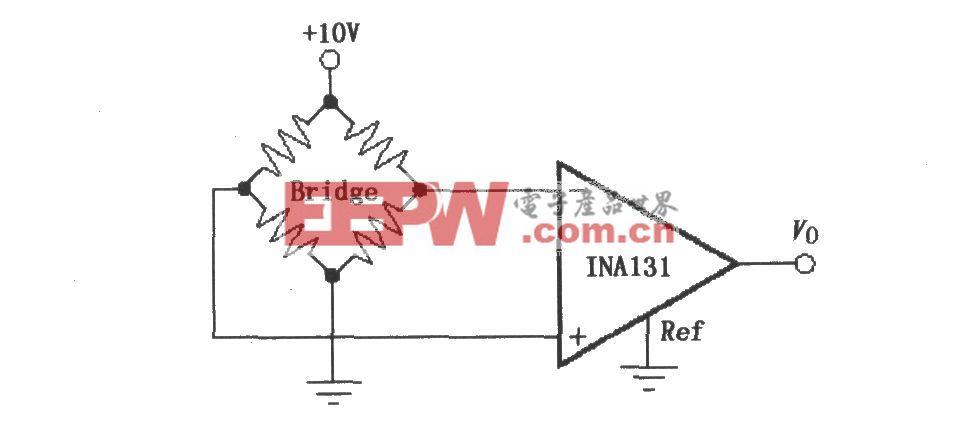 由INA131构成的电阻电桥放大器