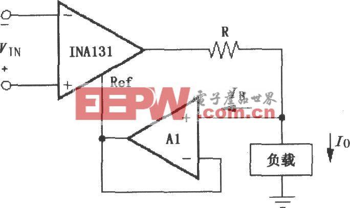 由INA131构成的差分电压-电流变换电路