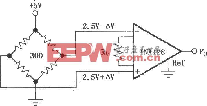 由INAl28构成的电阻电桥放大器