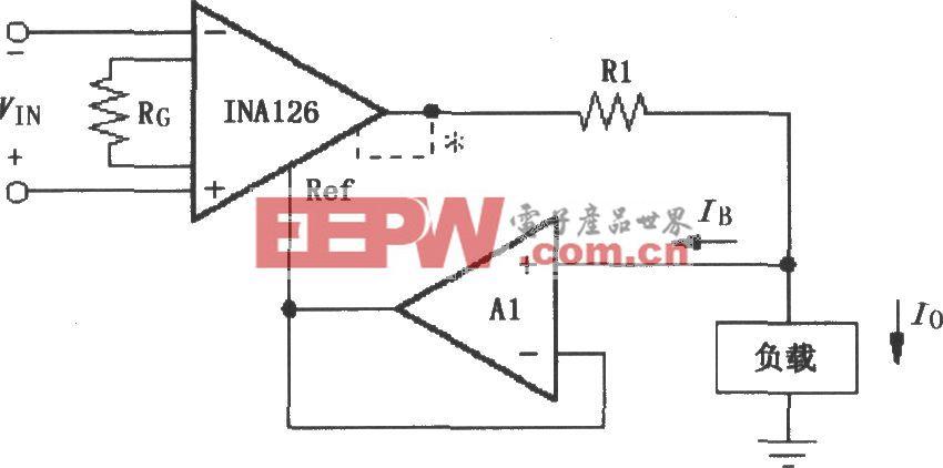 由INA126構成的差分電壓-電流變換電路