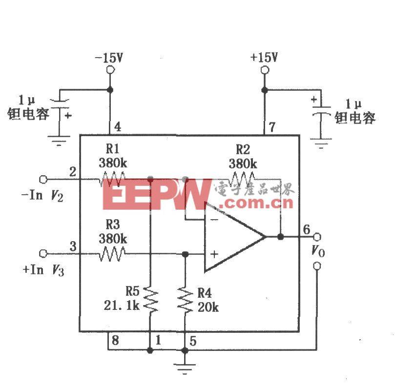 INA117基本电源和信号连接电路