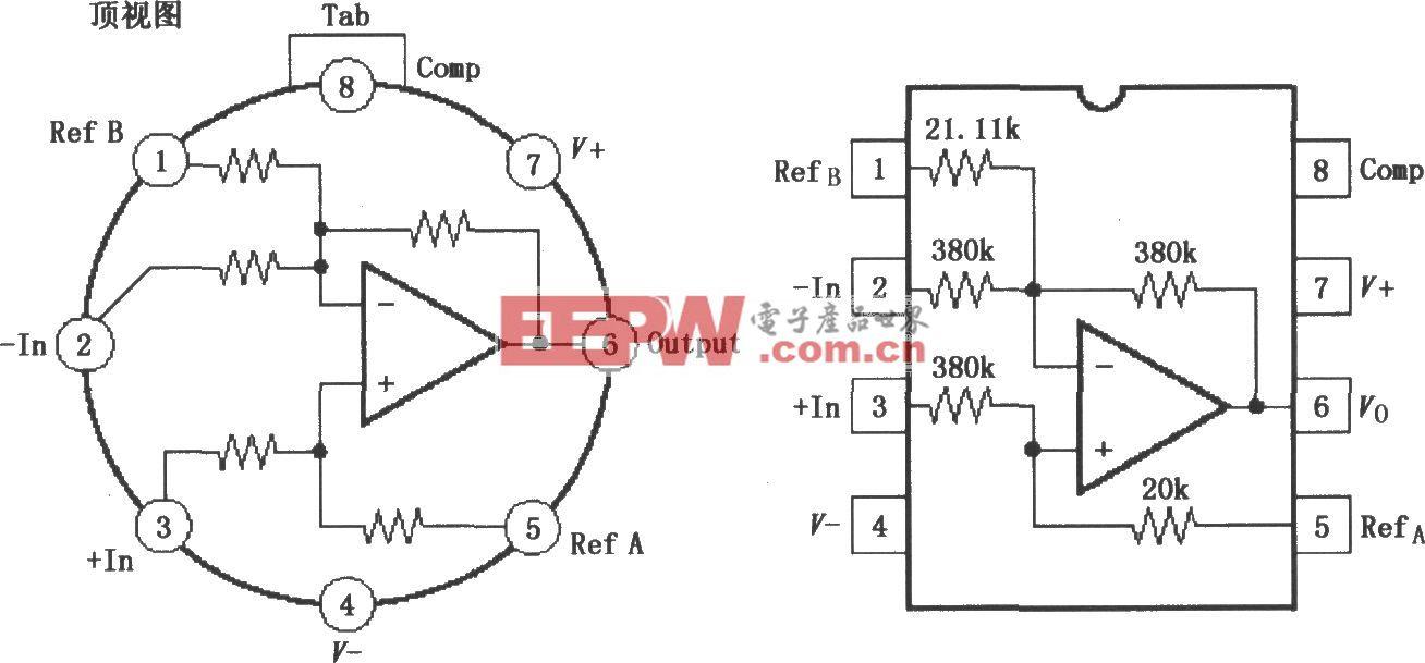 高共模电压差分放大器INA117