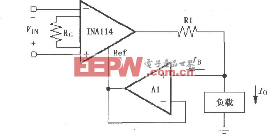 INA114构成的差动电压-电流变换电路
