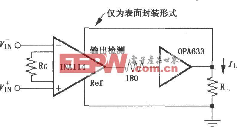INA114重负载输出缓冲电路