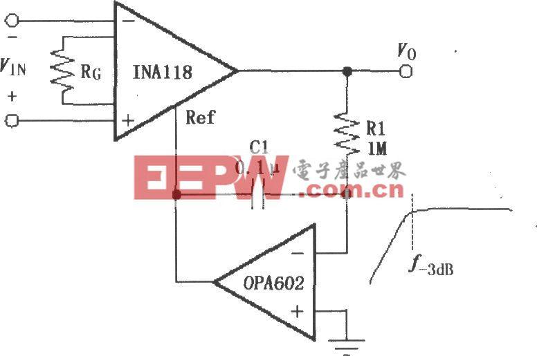 由INA118構成的交流耦合儀表放大器