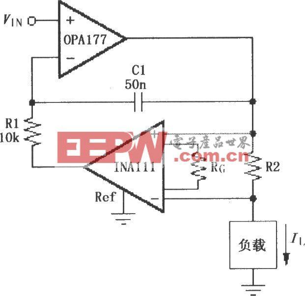 INA111构成的电压控制电流源电路