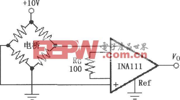 INA111电桥传感器放大电路
