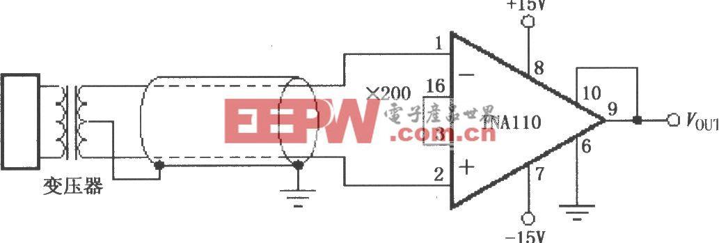 INA110变压器耦合放大电路