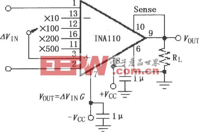 INA110基本连接电路