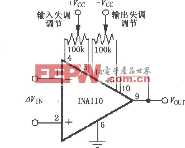 INA110失调电压调节电路